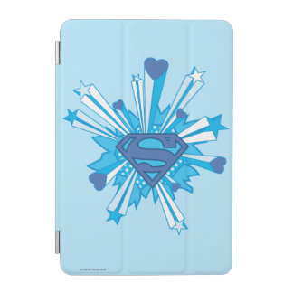 Superman Stylized | Blue Shield Hearts Logo iPad Mini Cover