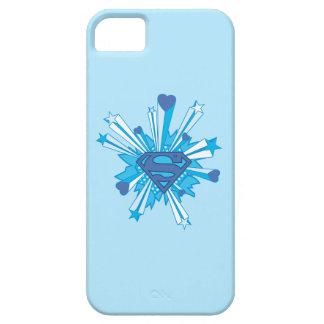 Superman Stylized | Blue Shield Hearts Logo iPhone 5 Case