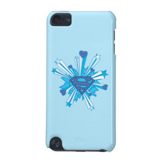 Superman Stylized   Blue Shield Hearts Logo iPod Touch 5G Covers