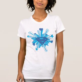 Superman Stylized | Blue Shield Hearts Logo T-Shirt