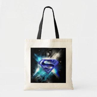 Superman Stylized | Blue White Crystal Logo