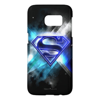 Superman Stylized | Blue White Crystal Logo