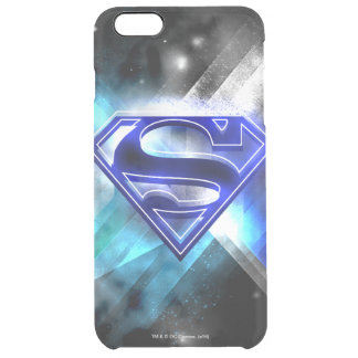 Superman Stylized | Blue White Crystal Logo Clear iPhone 6 Plus Case