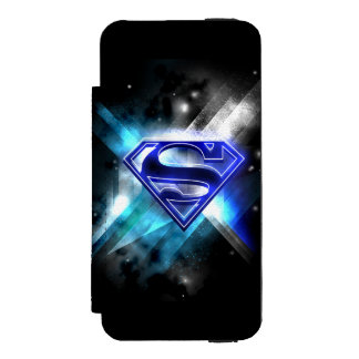 Superman Stylized | Blue White Crystal Logo Incipio Watson™ iPhone 5 Wallet Case