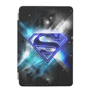 Superman Stylized | Blue White Crystal Logo iPad Mini Cover