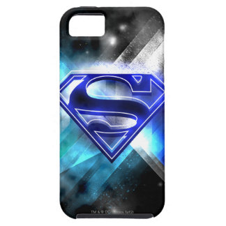 Superman Stylized | Blue White Crystal Logo iPhone 5 Cases