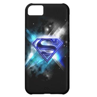 Superman Stylized | Blue White Crystal Logo iPhone 5C Case