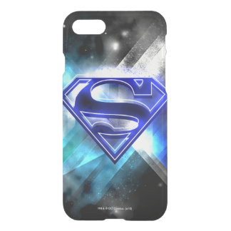 Superman Stylized | Blue White Crystal Logo iPhone 8/7 Case