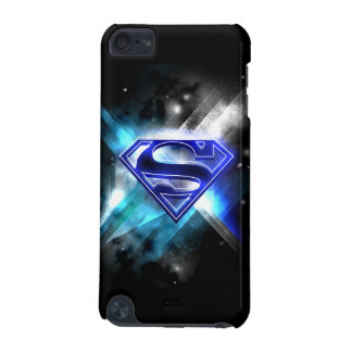 Superman Stylized | Blue White Crystal Logo iPod Touch (5th Generation) Case