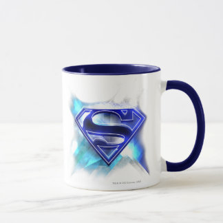 Superman Stylized | Blue White Crystal Logo Mug