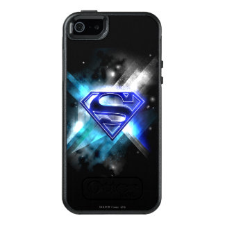 Superman Stylized | Blue White Crystal Logo OtterBox iPhone 5/5s/SE Case