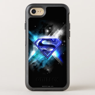 Superman Stylized | Blue White Crystal Logo OtterBox Symmetry iPhone 8/7 Case