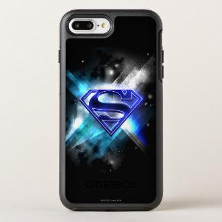 Superman Stylized | Blue White Crystal Logo OtterBox Symmetry iPhone 8 Plus/7 Plus Case
