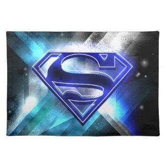 Superman Stylized | Blue White Crystal Logo Placemat