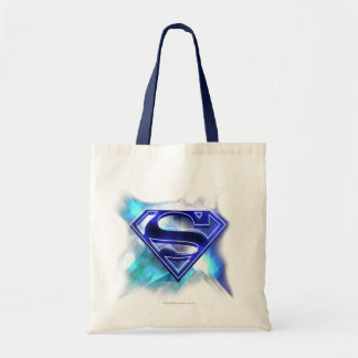 Superman Stylized | Blue White Crystal Logo Tote Bag