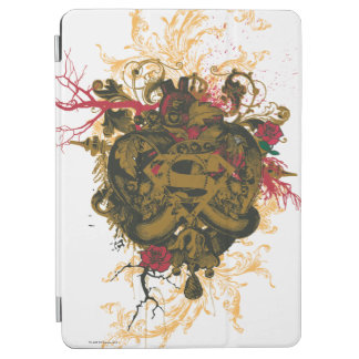 Superman Stylized | Brown Heart Red Logo iPad Air Cover