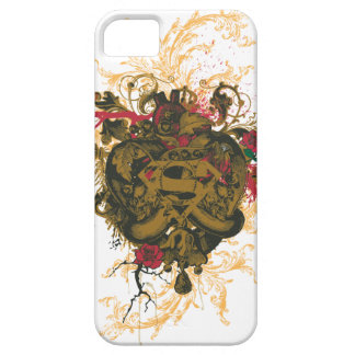 Superman Stylized | Brown Heart Red Logo iPhone 5 Case