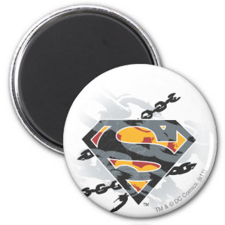 Superman Stylized | Chains Logo 6 Cm Round Magnet