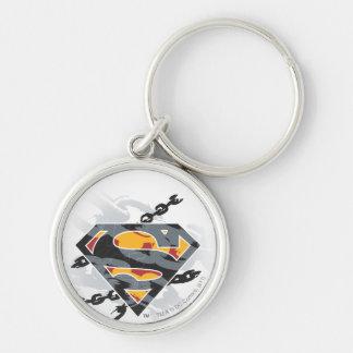 Superman Stylized   Chains Logo Key Ring
