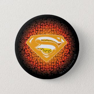 Superman Stylized   Crackle Logo 6 Cm Round Badge