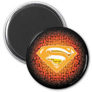 Superman Stylized | Crackle Logo 6 Cm Round Magnet