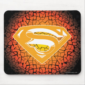 Superman Stylized | Crackle Logo Mouse Pad