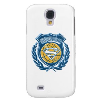 Superman Stylized | Crest with Globe Logo Galaxy S4 Case