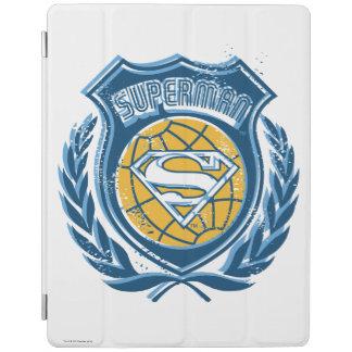 Superman Stylized | Crest with Globe Logo iPad Cover