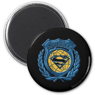 Superman Stylized | Crest with Globe Logo Magnet