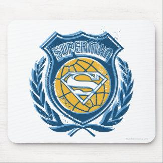 Superman Stylized | Crest with Globe Logo Mouse Mat