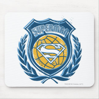 Superman Stylized | Crest with Globe Logo Mouse Pad