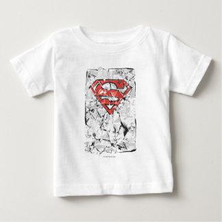 Superman Stylized | Crumpled Comic Logo Baby T-Shirt