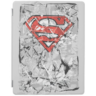 Superman Stylized | Crumpled Comic Logo iPad Cover