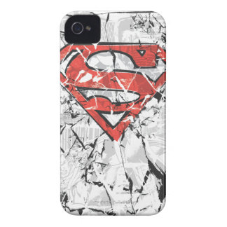 Superman Stylized | Crumpled Comic Logo iPhone 4 Cover