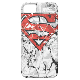 Superman Stylized   Crumpled Comic Logo iPhone 5 Case