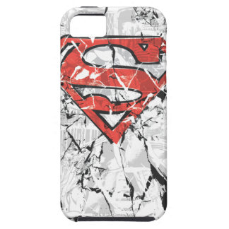 Superman Stylized | Crumpled Comic Logo iPhone 5 Cases