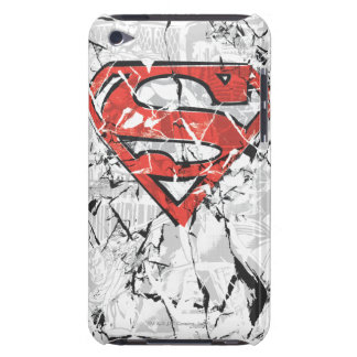 Superman Stylized | Crumpled Comic Logo iPod Touch Case