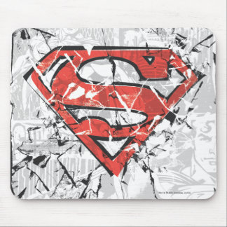 Superman Stylized | Crumpled Comic Logo Mouse Mat