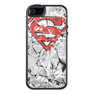 Superman Stylized | Crumpled Comic Logo OtterBox iPhone 5/5s/SE Case