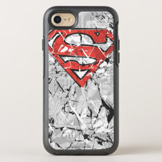 Superman Stylized | Crumpled Comic Logo OtterBox Symmetry iPhone 8/7 Case