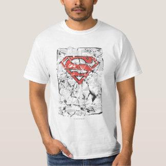 Superman Stylized   Crumpled Comic Logo T-shirts
