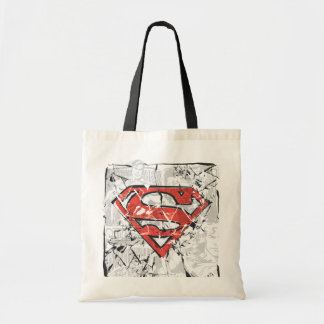 Superman Stylized | Crumpled Comic Logo Tote Bag