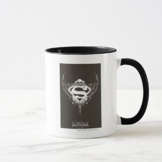Superman Stylized | Dark Brown Background Logo Mug