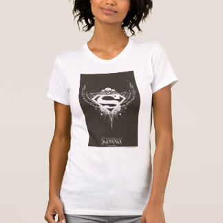 Superman Stylized | Dark Brown Background Logo T-Shirt
