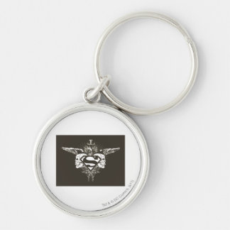 Superman Stylized | Dark Skulls Logo Key Ring