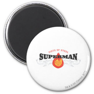 Superman Stylized | Fists of Steel Logo 6 Cm Round Magnet