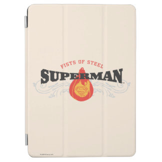 Superman Stylized | Fists of Steel Logo iPad Air Cover