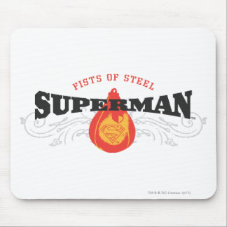 Superman Stylized | Fists of Steel Logo Mouse Mat