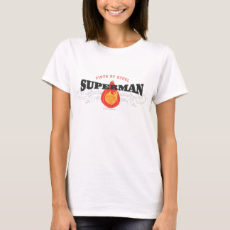 Superman Stylized | Fists of Steel Logo T-Shirt
