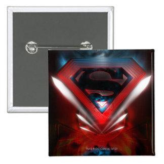 Superman Stylized | Futuristic Logo 15 Cm Square Badge